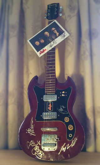 The Stranglers signed guitar